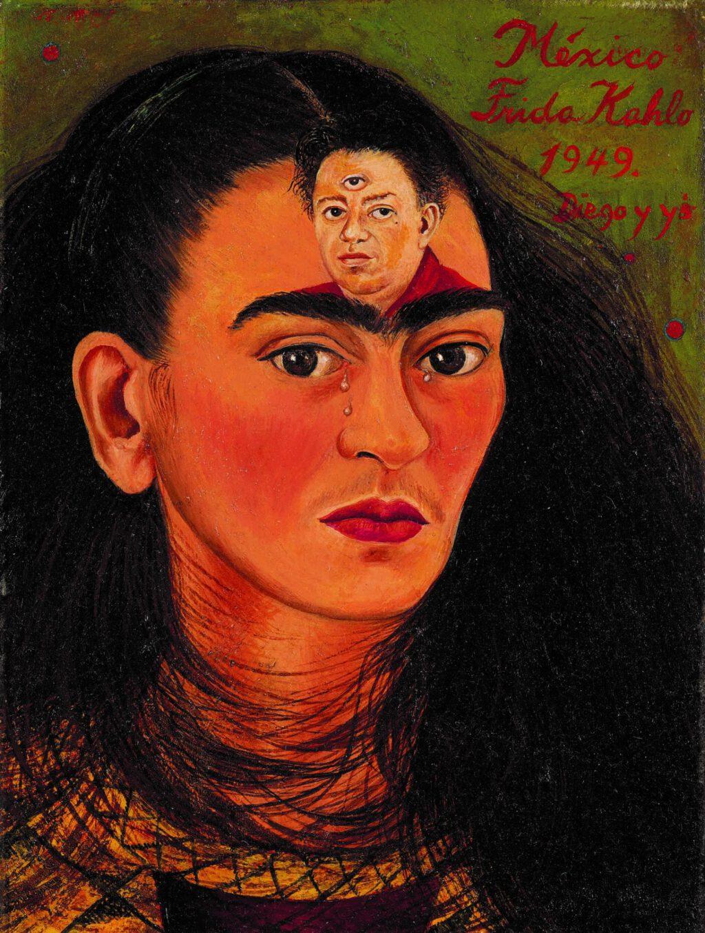 """Frida Kahlo """"Diego y yo (Diego and I)"""" 1949"""