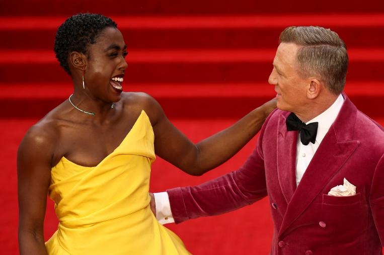 Lashana Lynch with Daniel Craig