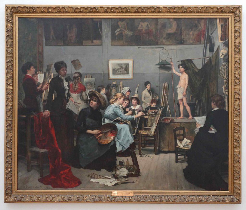 """Marie Bashkirtseff """"L'Académie Julian"""" 1881 (Dnipropetrovsk State Art Museum)"""