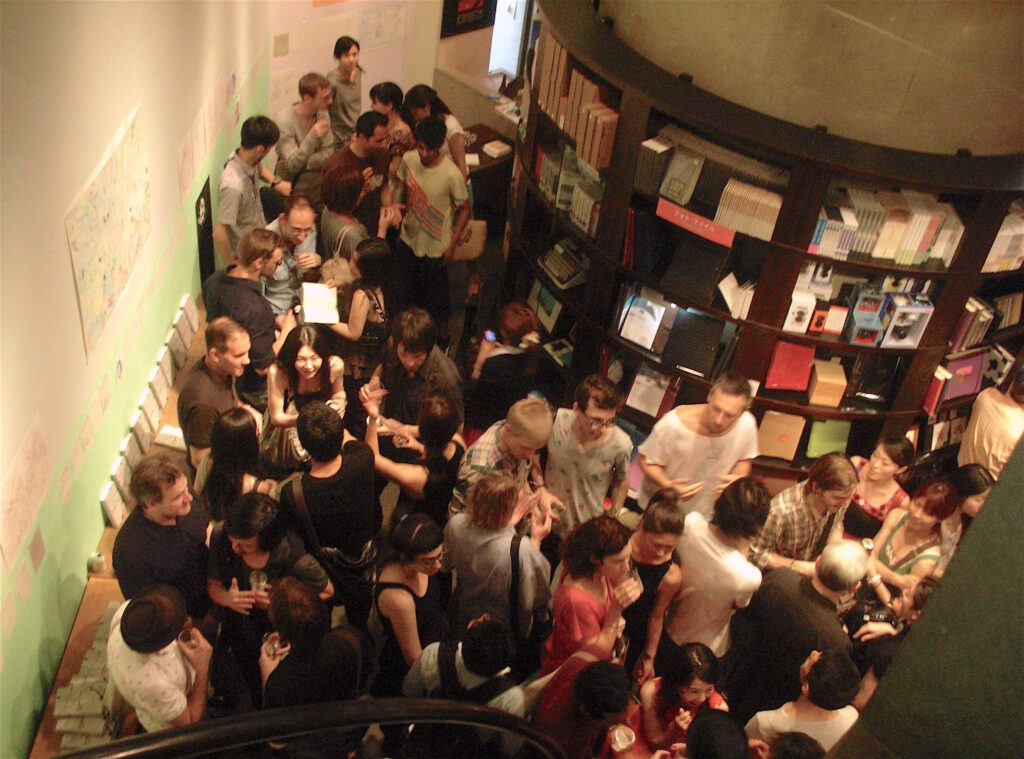 """Book launch of """"Art Space Tokyo"""" at Watari-um Bookstore on 3rd of July 2010"""